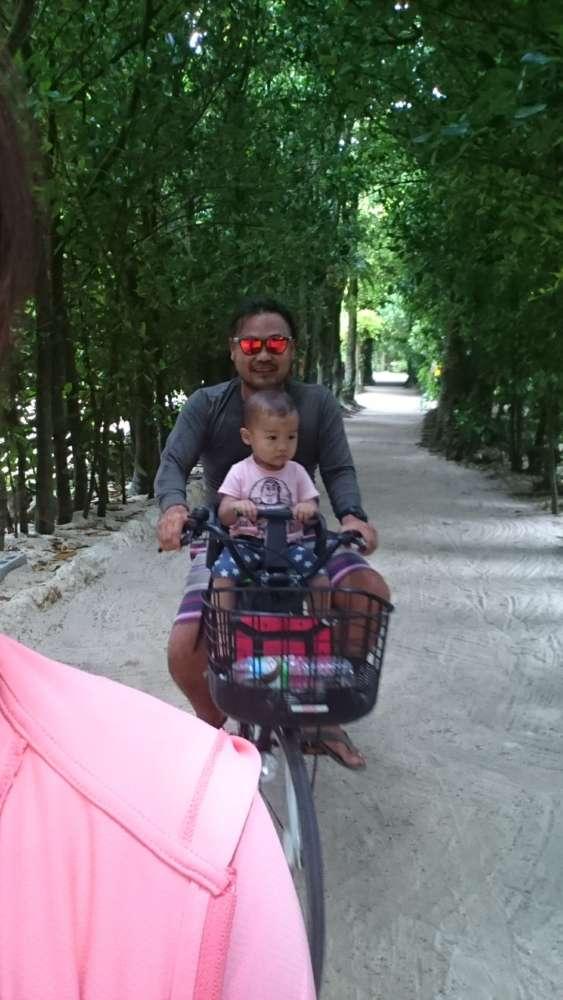 フクギ並木サイクリング